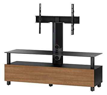 Accord TRN1133 B-WNT Sonorous Walnuß TV-Möbel fur 53 Zoll Fernseher, Holz, braun, 45 x 140 x 45 cm