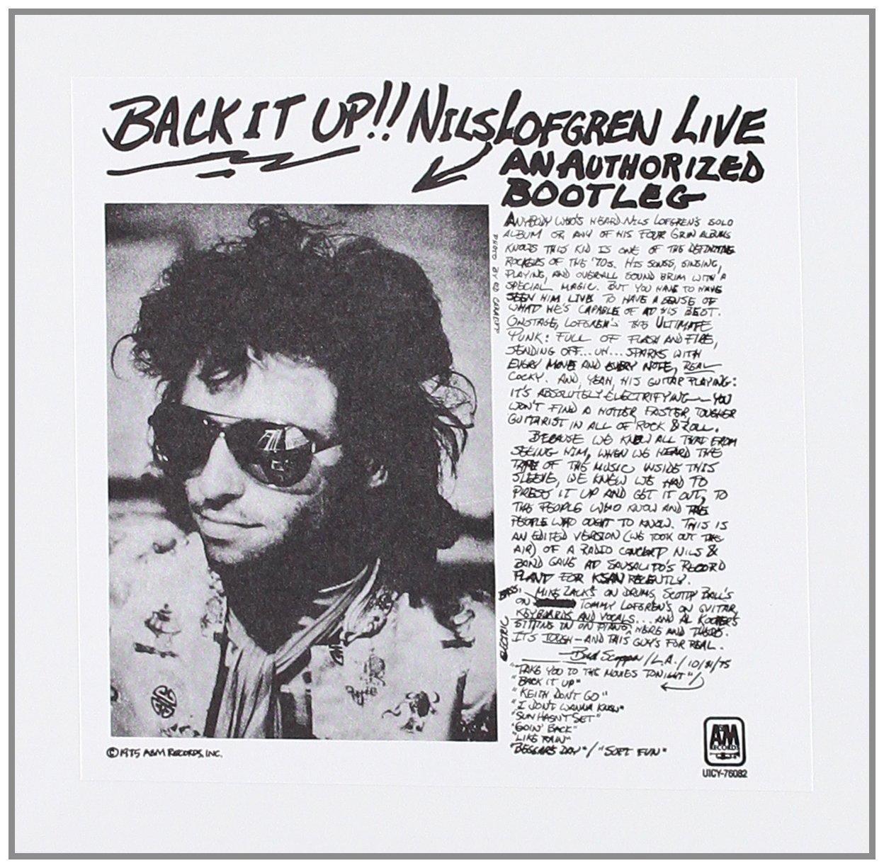 Back It Up!! Nils Lofgren Live - An Authorized Bootleg
