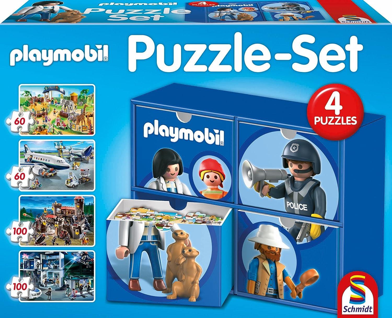 Schmidt Spiele 56500 – Puzzle – Set Playmobil 2 x 60, 2 x 100 Teile kaufen