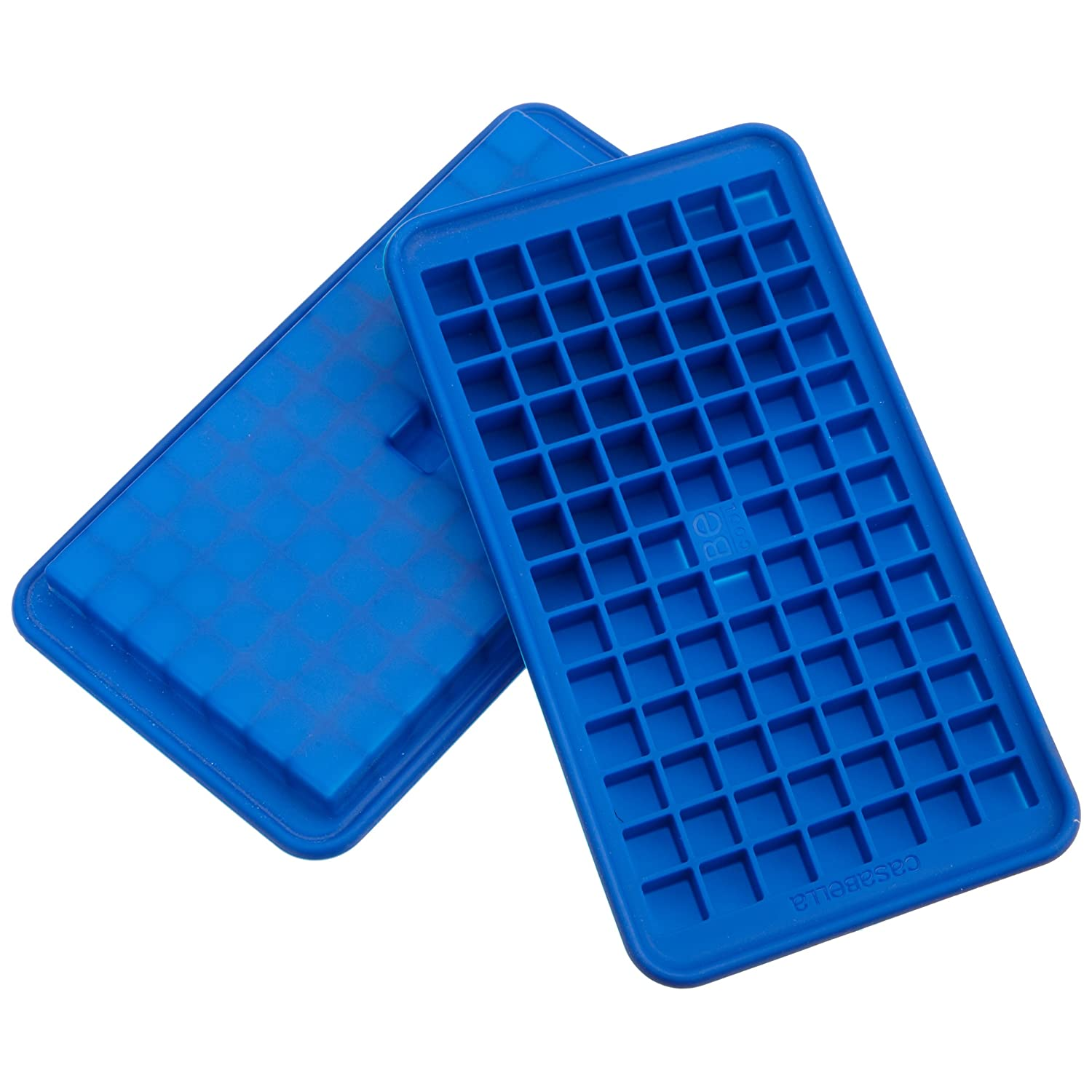 Casabella Silicone Mini Cube Ice Cube Tray, Set Of 2 - Constructed from flexible food grade silicone with no-spill reservoir for mess-free use