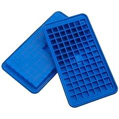 Casabella Silicone Mini Cube Ice Cube Tray, Set of 2