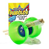KickFire Diabolos Green Comet Chinese YoYo Diabolo Set with Wooden Sticks and String