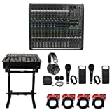 Mackie PROFX16v2 Pro 16 Channel 4 Bus Mixer w Effects and USB PROFX16 V2+Stand
