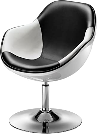 Poltrona design & # x153; UF Bianco e nero