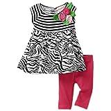 Flapdoodles Baby-Girls Infant Zebra Stripe Dress Set