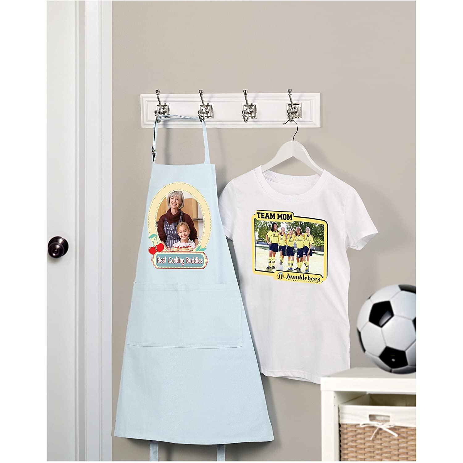 White apron old school rs - Avery T Shirt Transfers For Inkjet Printers For Light Colored 8 5 X 11 Inches Pack Of 18 08938 Amazon In Office Products