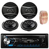 Pioneer DEH-S4000BT Car Bluetooth Radio USB AUX CD Player Receiver - Bundle With 2x TSA1676R 6.5
