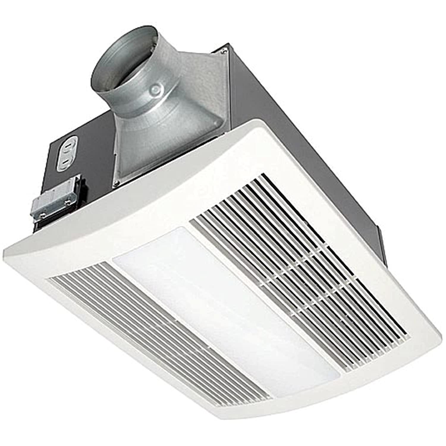 Panasonic FV-11VHL2 WhisperWarm 110 CFM Ceiling Mounted Fan/Heat/Light-Night-Light Combination