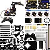 KEYESTUDIO 4DOF Robot Arm Kit for Arduino DIY, Electronic Coding Robotics for Kids Age 12+, Joystick Controlled, Bluetooth Controlled, PS2 Controlled