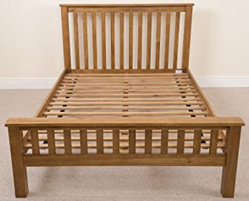 COTSWOLD SOLID OAK 4FT 6 DOUBLE BED