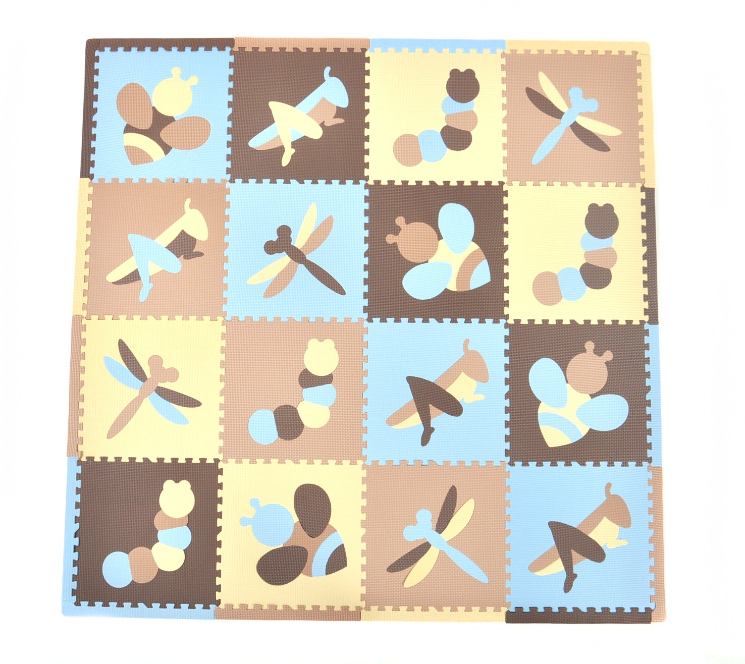 Tadpoles Playmat Set, Blue/Cream/Taupe