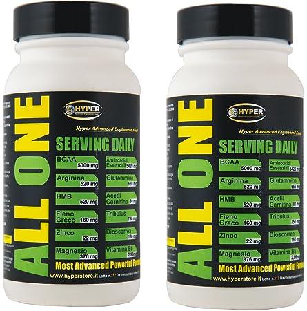 2 Flasche mit 200 Tabletten 260 gr Nahrungsergänzungsmittel, um die Erholung der Muskeln mit zu unterstutzen: BCAA , Essentielle Aminosäuren (Phenylalanin, Isoleucin, Leucin, Methionin, Threonin, Tryptophan, Valin), Glutamin , Arginin , HMB, Ace
