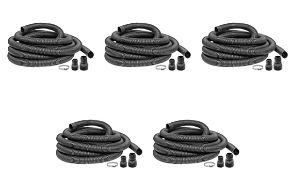 Superior Pump 99624 Universal Discharge Hose Kit, 24-Feet, with 1-1/4-Inch and 1-1/2-Inch Adapters (F?v? ???k) (Color: F?v? ???k)