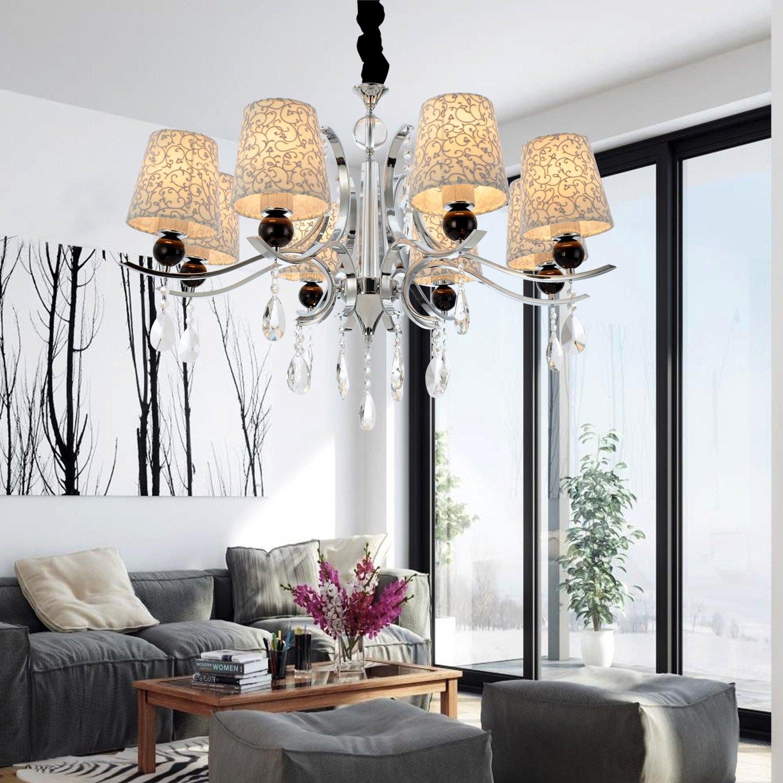 OOFAY LIGHT Moderne Splendid 8 Lichter Kronleuchter mit Kristall Tropfen bestellen
