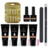 Poly Gel Kitl Nail Enhancement Builder Gel 30 ml4 Poly gel Professional All-in-one Nail Technician Extension Trial Set by EVEBYRA (Tamaño: Polygel Nail Kit)