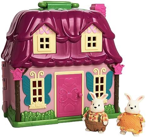 Li'L Woodzeez 6103m Campagne Cottage avec Amelia & Elliot Hoppingood et Storybook