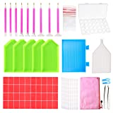 Outuxed 127Pcs Diamond Painting Tools 5D DIY Cross Stitch Tool Set Embroidery Sewing Accessories with Storage Box and Stickers for Art Crafts (127PCS) (Color: 127pcs)