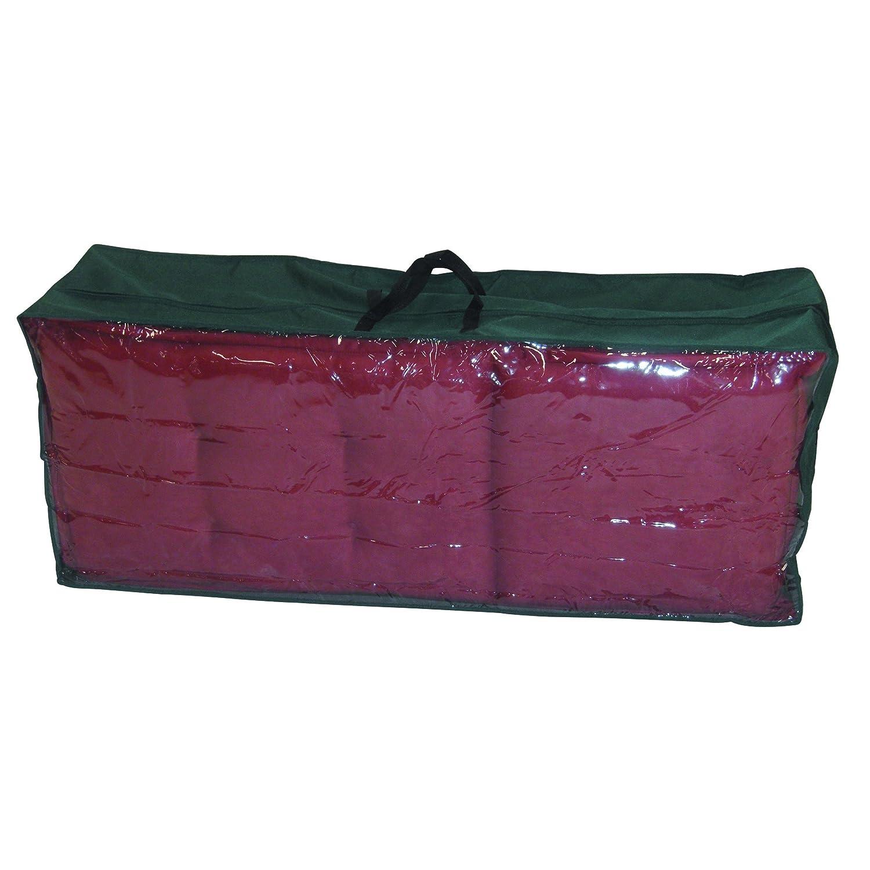 Greemotion Schutzhülle für Kissen und Auflagen wasserabweisend mit Reißverschluß und Fenster, Grün, ca. 125 x 50 x 32 cm