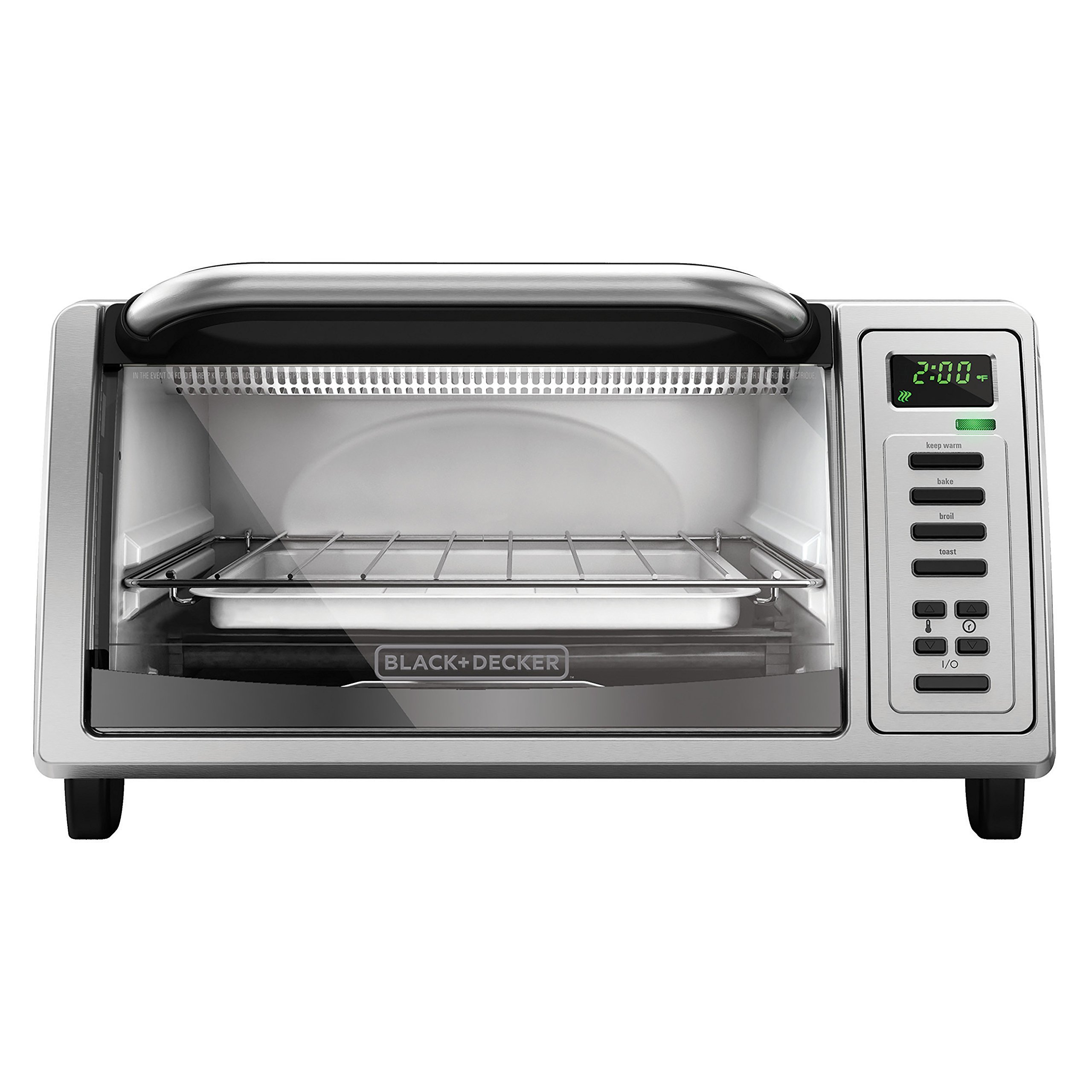 Black and Decker TO1380SS 4-Slice Toaster Oven Platinum | eBay