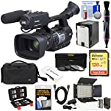 JVC GY-HM620U ProHD Professional Mobile News Camcorder with XLR Microphone + 128GB Card + Battery + Case + LED Video Light Kit (Color: Black, Tamaño: 128GB Kit)