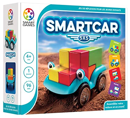 Smartgames - SG 018 FR - Smartcar 5x5 - Jeu De Réflexion Et D'observation