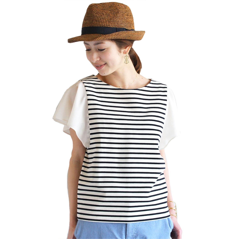 Amazon.co.jp: (ビューティーアンドユースユナイテッドアローズ) BEAUTY&YOUTH UNITED ARROWS BYSF シフォンフレアスリーブカットソー 16172994654 白地×青 FREE: 服&ファッション小物通販
