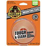Gorilla 6036002 Tough & Clear XL Mounting Tape 150 inches Clear