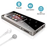 16GB MP3 Music Player with Bluetooth 4.0, Dansrue Portable Lossless MP3 Audio Music Movie Player with Speaker/FM Radio/Voice Recorder, Metal Shell Touch Button (Color: M06 16GB Built-in Speaker ( With Bluetooth ))