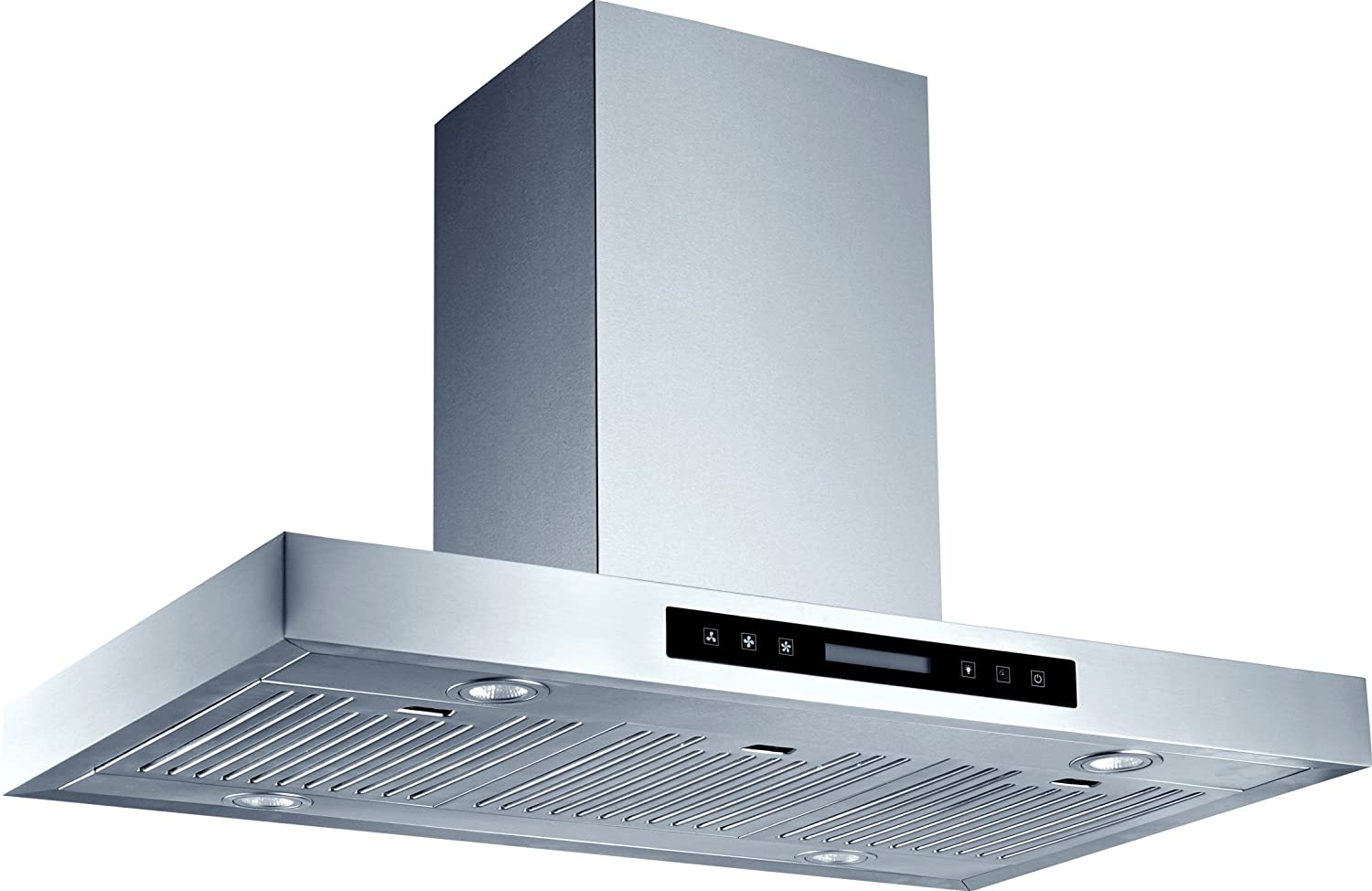 Brand New 36 in Stainless Steel Island Chimney Mount Vents Range Hood Kitchen 900 CFM