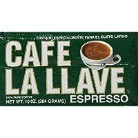 Cafe La Llave 10-Ounce 100% Pure Espresso Dark Roasted Coffee