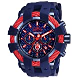 Invicta Men's 'Marvel' Quartz Stainless Steel and Silicone Fashion Watch, Color:Blue (Model: 26008) (Color: Blue)