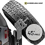 Smittybilt 76857-05 black Slant Back Tire Mount, 1 Pack (Color: black)