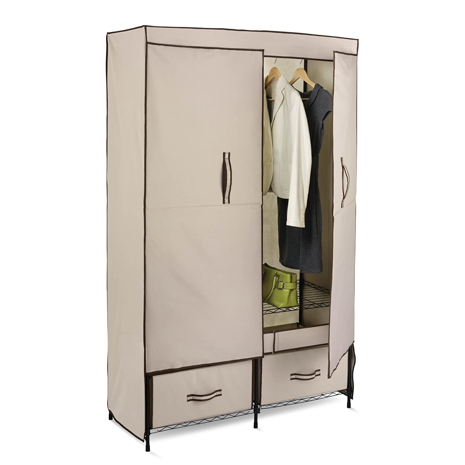 Storage Portable Travel Closet Wardrobe Drawers Door