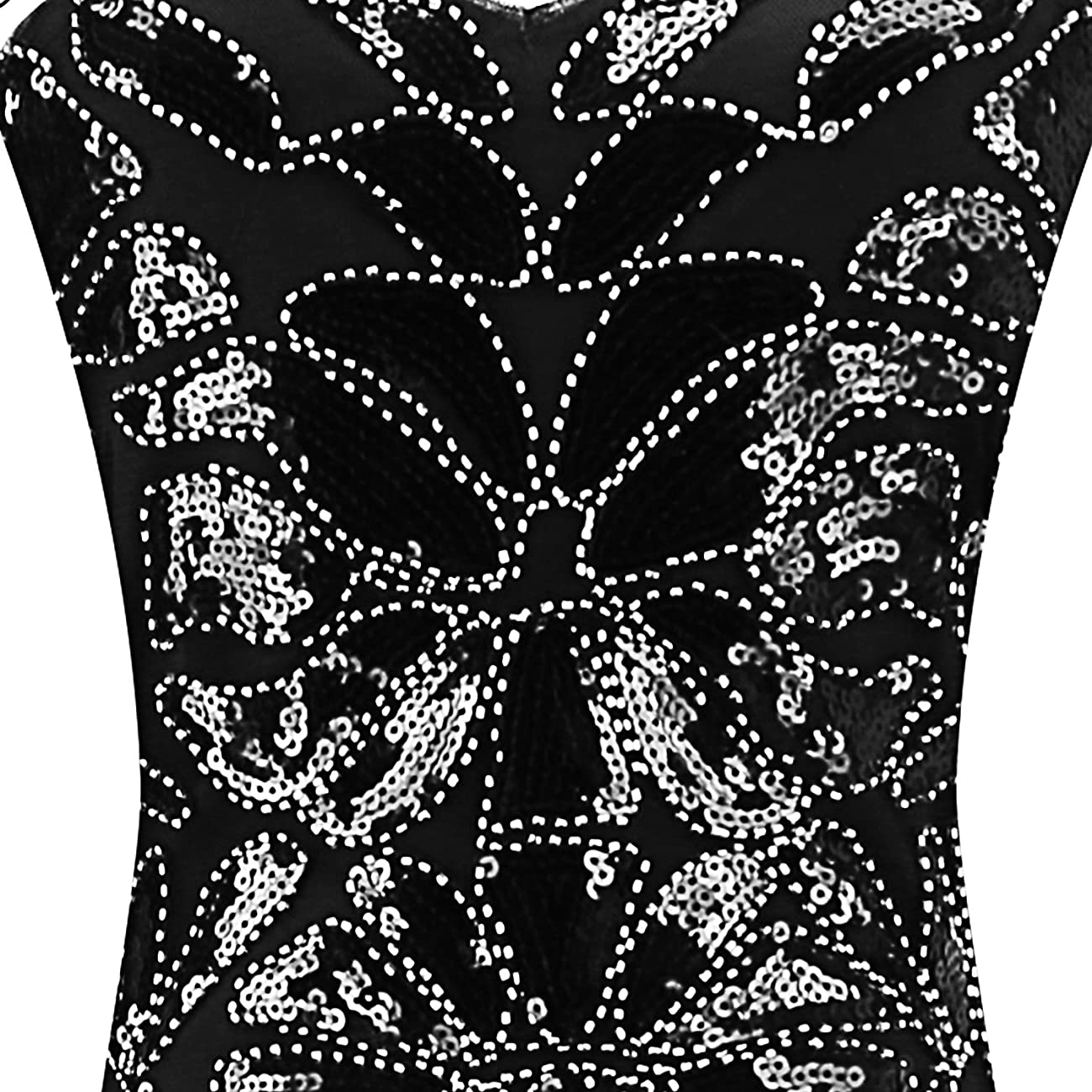 Urmine Women's Retro 1920s Gatsby Sequined Beaded Evening Party Prom Cocktail Flapper Dress 3