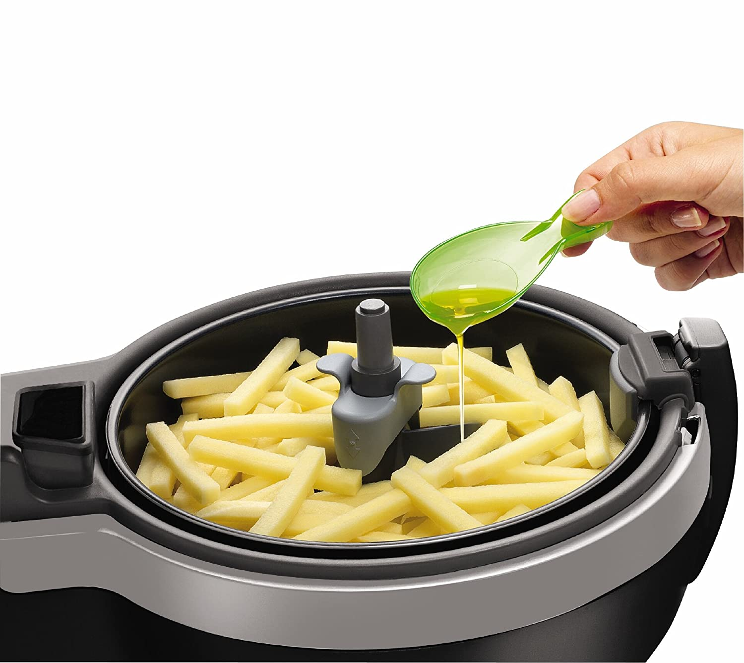 The T-fal FZ7002 ActiFry uses very little oil and is a high quality Multi-Cooker.