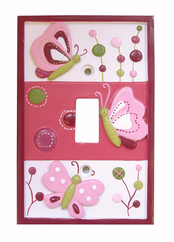 Lambs & Ivy Raspberry Swirl Switch Plate Cover