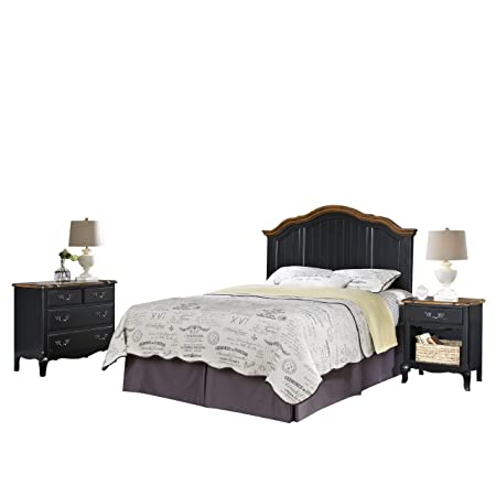 Home Styles 5519-5016 The French Countryside Full/Queen Headboard, Night Stand and Chest Set
