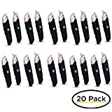 Internet's Best Premium Utility Knife - Set of 20 - Retractable Razor Knife Set - 10 Extra Blade Refills - Box Cutter Locking Razor Knife - Rubber Grip - Black (Color: Premium - 20 Pack)