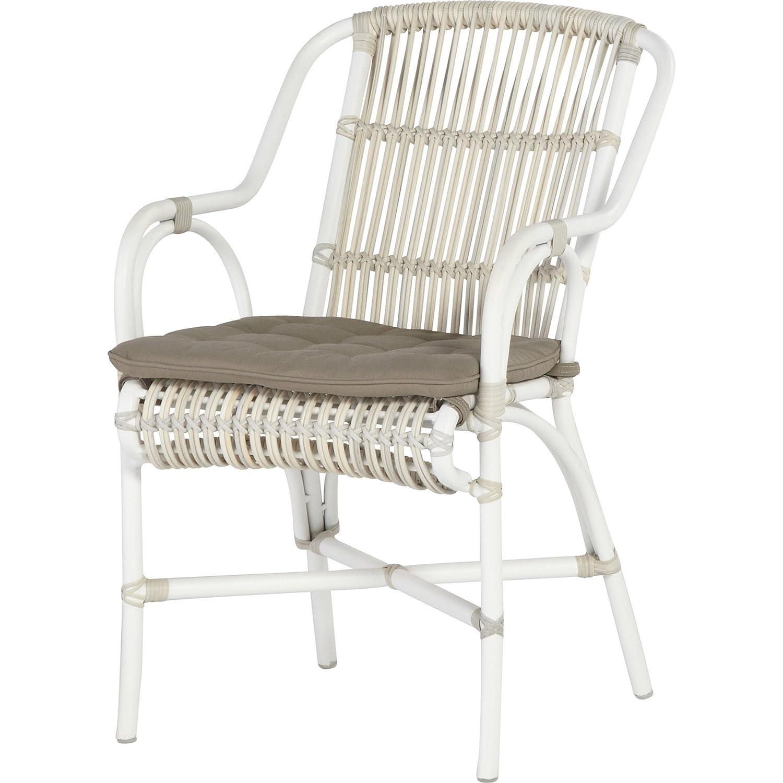 4Seasons Outdoor Loire Dining Sessel Aluminium weiß Polyrattan Retro Provance jetzt bestellen
