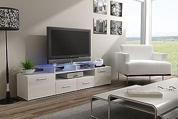 Moderne Evora weiß Hochglanz TV Möbel Vitrine, Unterhaltung unittv Schränke Weiß glänzend