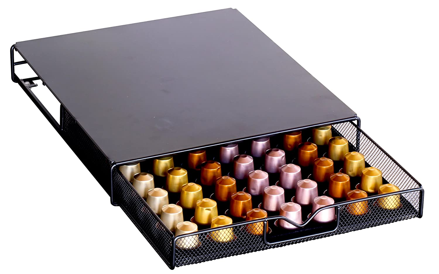 Decobros coffee pod packs storage mesh drawer holder organizer nespresso caps - Tiroir rangement capsules nespresso ...