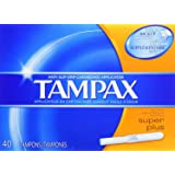 Tampax Super Plus Tampons with Flushable Cardboard Applicator-40 ct Pack of 2