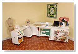 Kangaroo Kabinets K8611 Aussie Large Sewing Cabinet Ash White