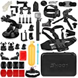 SHOOT 31 in 1 Must Have Accessories Kit with Carrying Case for GoPro Hero 7 Black Silver White/6/5/4/3+/3/5 Session/Hero(2018)/Fusion Campark AKASO DBPOWER Crosstour FITFORT Accessories (Color: 30in1)