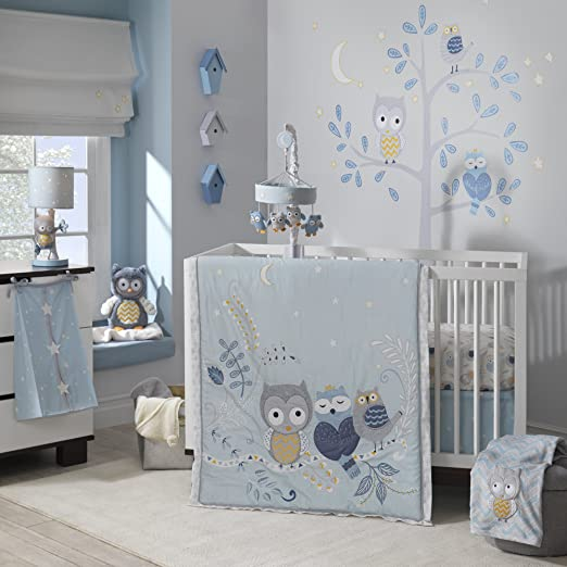 Lambs and Ivy Night Owl Baby Bedding