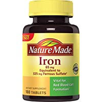 Nature Made Iron 65 mg Tablets (180 Count)