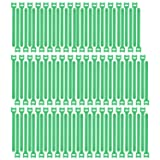 Pasow 100pcs Reusable Fastening Cable Ties Adjustable Wire Management (7 Inch, Green) (Color: Green, Tamaño: 7 Inch)