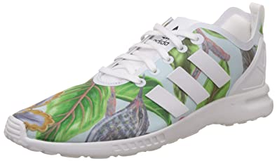 ADIDAS ZX FLUX PLUS BLACK WHITE S75529 RUNNING SHOES