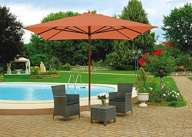 Mobili giardino E4008T Ombrellone legno QUADRATO 3 x 3 mt. bacchette 17x28 mm