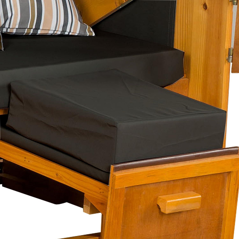 Strandkorb Auflagekissen-Set für Fussablage, anthrazit, 2er Set, LILIMO ® jetzt bestellen